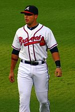 Martín Prado wearing the home uniform