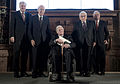 MSC 2014 Seehofer-GiscardDEstaing-Schmidt-Kissinger-Ischinger2 Mueller MSC2014.jpg