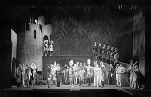 Canada Lee - Lee (center left) as Banquo in Act I, Scene 2, of Macbeth
