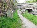 Macclesfield Canal, Canal Milestone At Sj 924 719, South Of Bridge Number 43.jpg