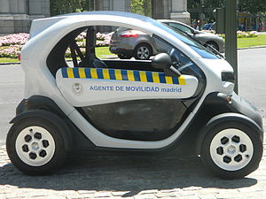 Highway patrol - Renault Twizy of the Madrid Highway police