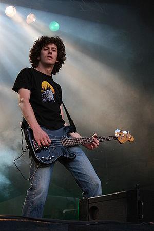 Niko Maurer, bass player of the German band Ma...