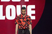 Mahmood at the 2019 Eurovision Song Contest Grand Final Dress Rehearsal (1).jpg