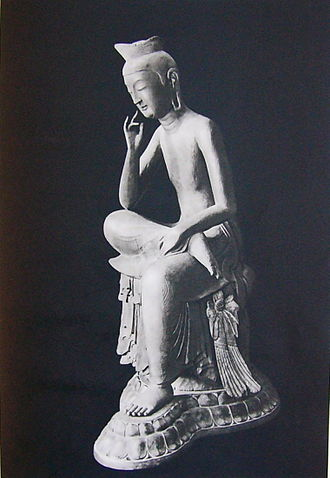Maitreya - A statue of the bodhisattva Maitreya, at Kōryū-ji