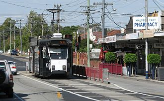 Malvern East, Victoria - Tram terminus on Waverley Road
