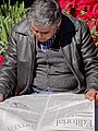 Man Reads Newspaper in Zocalo (Central Square) - Oaxaca City - Oaxaca - Mexico (6492425207).jpg