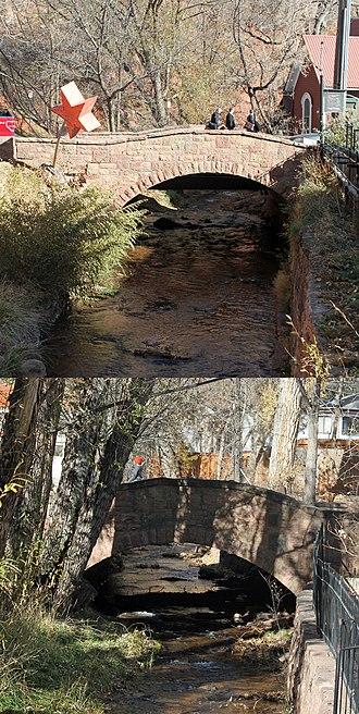 Manitou Springs Bridges - Image: Manitou Springs Bridges