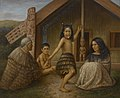 Maori Girl Learning the Haka, by Gottfried Lindauer.jpg