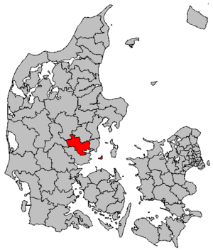 Horsens Municipality - Location of Horsens municipality