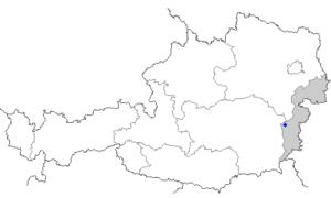 Pinkafeld - Image: Map at pinkafeld