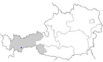 Sölden - Image: Map at sölden