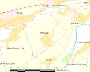 Operation Jupiter (1944) - Image: Map commune FR insee code 14254