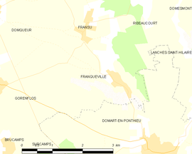 Mapa obce Franqueville