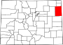 Map of Colorado highlighting Yuma County.svg