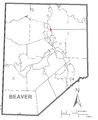 Map of Eastvale, Beaver County, Pennsylvania Highlighted.png