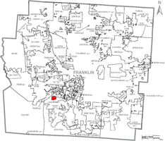 Location of Urbancrest within Franklin County