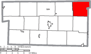Paint Township, Holmes County, Ohio - Image: Map of Holmes County Ohio Highlighting Paint Township
