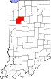 Map of Indiana highlighting White County.svg