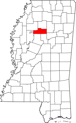Map of Mississippi highlighting Grenada County.svg