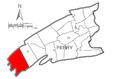 Map of Perry County, Pennsylvania Highlighting Toboyne Township.PNG