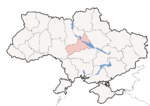 Oblast di Čerkasy - Mappa di localizzazione
