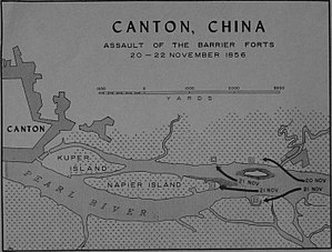 Battle of the Barrier Forts - Map of the assault on the Barrier Forts, 20–22 November