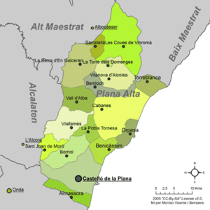 Plana Alta - Municipalities of Plana Alta