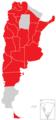 Mapa de los conflictos policiales en Argentina de 2013.png