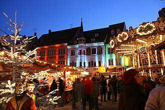 Mulhouse - Christmas market in Mulhouse.