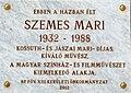 Mari Szemes plaque Bp13 KatonaJózsef26.jpg