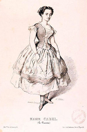 Marie Cabel - Cabel as Marie in Clapisson's La promise