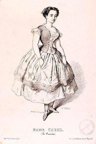 Théâtre Lyrique - Marie Cabel in La promise (1853)