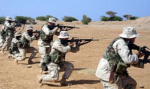 Camp Lemonnier - Image: Marineswithm 16
