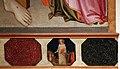 Mariotto di cristofano, cristo eucaristico tra la madonna e santa lucia, 1420-25 ca., predella 03 santo elemosiniere.jpg