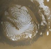 Martian north polar cap