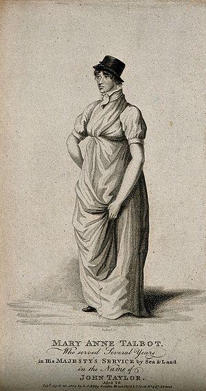 Mary Anne Talbot - An 1804 intaglio print depicting Talbot