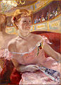 Mary Stevenson Cassatt, American - Woman with a Pearl Necklace in a Loge - Google Art Project.jpg