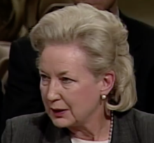 photo of daughter Maryanne Trump Barry testifying at the confirmation of Samuel Alito, 2006.