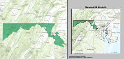 Maryland's 6th congressional district - since January 3, 2013.