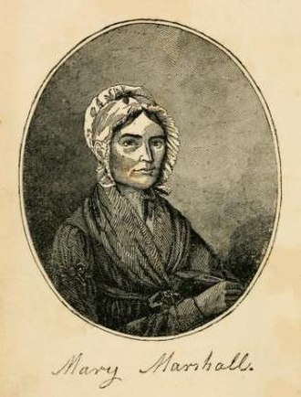 Mary Marshall Dyer - Mary Marshall Dyer, portrait circa engraved 1820