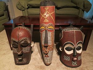 Traditional African religions - Bakongo masks from the Kongo Central