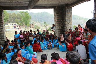 Chhaupadi - Awareness raising through education is taking place among young girls to modify or eliminate the practice of chhaupadi in Nepal.