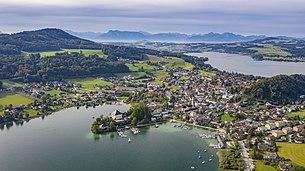 Aerial view of Mattsee