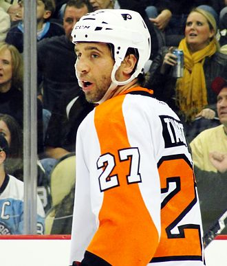 Maxime Talbot - Talbot returns to Pittsburgh as a member of the Philadelphia Flyers, December 2011