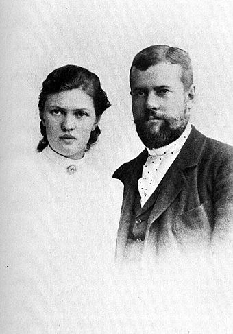 Max Weber and his wife Marianne in 1894 Max and Marianne Weber 1894.jpg