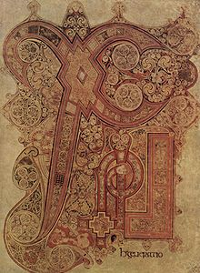 Chi rho page book of kells