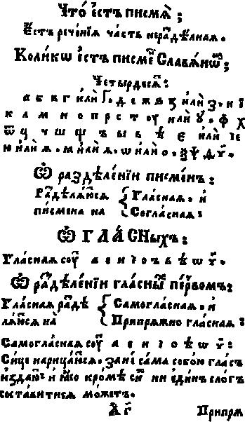 Meletius Smotrisky Cyrillic Alphabet