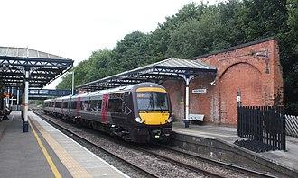 Melton Mowbray railway station - Image: Melton Mowbray Cross Country 170101 Birmingham service