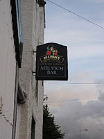 Melvich Hotel - sign.