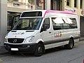 Mercedes-Benz Sprinter Midcity n°477U (vue avant gauche) - TUB (Hôtel de Ville, Bellegarde-sur-Valserine).jpg
